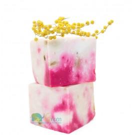 """""""Мыло""""-сухой шампунь розовое женское лечебное с маслом ши органическим Varda Faresiya Karite, 145г"""