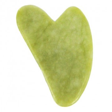 Скребок для массажа Гуаша, Сердце 7х4,5см, нефрит