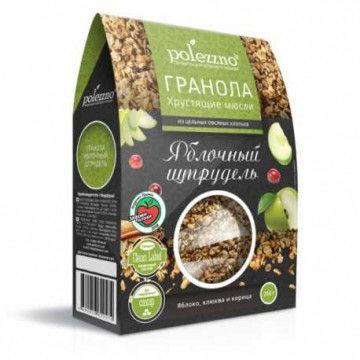 """Гранола """"Яблочный штрудель"""", 250 гр Polezzno"""