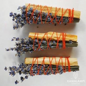 Скрутка из палочки пало санто и цветов лаванды, 1шт