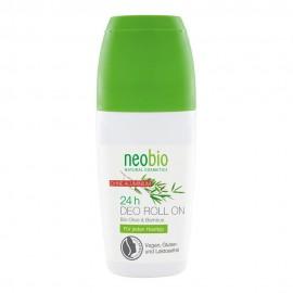 Дезодорант шариковый 24 часа с био-оливой и бамбуком NeoBio, 50 мл, , 18.60 руб., Дезодорант шариковый 24 часа NeoBio, 50 мл, NeoBio, Природные дезодоранты