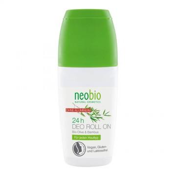 Дезодорант шариковый 24 часа с био-оливой и бамбуком NeoBio, 50 мл