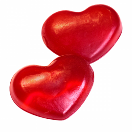 """Туалетное мыло Клюквенное """"Сердце"""" МиКо, 60 г, , 6.50 руб., Туалетное мыло Клюквенное """"Сердце"""" , Ми&Ко - 100% натуральная косметика, Натуральное мыло"""