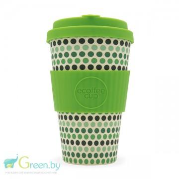 Кофейная эко-чашка: Зеленый горох, 400мл, Ecoffee cup