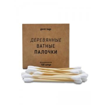 Ватные палочки 100шт,  деревянные Goroh Bags