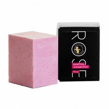 Rose шампунь-концентрат с шёлком и маслом розы, 70 г