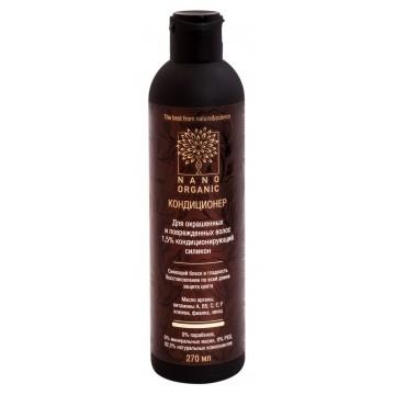 Кондиционер для окрашенных и порежденных волос Nano organic, 270 мл