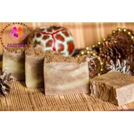 Мыло с корицей и маслом какао, 100±5 гр, , 9.00 руб., Мыло с корицей и маслом какао, 100±5 гр, ЛАДУШКА Натуральное мыло и косметика, Натуральное мыло ручной работы