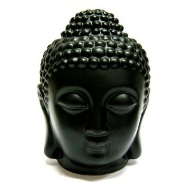 "Аромалампа ""Голова Будды"" чёрная, 13 см"