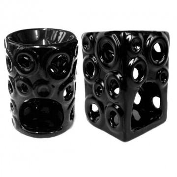 Аромалампа керамика 11см, черная, большая