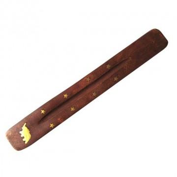 Подставка для благовоний Лодочка деревянная 25,5см в ассортименте