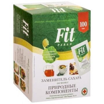 Заменитель сахара ФитПарад №10, саше 100шт, 0,5гр