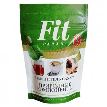 Заменитель сахара (смесь натуральных подсластителей) ФитПарад № 10, пакет 150г