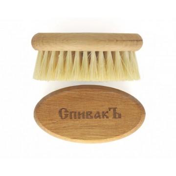 Расческа для бороды из натурального бука, щетина кактус