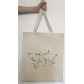 Эко сумка-шопер, 40х45см, принт: Планета, , 25.50 руб., Эко сумка-шопер, 40х45см, принт: Планета, Под солнцем – эко товары, Сумки и фруктовки
