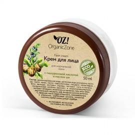 Крем для лица для нормальной кожи с гиалуроновой кислотой и маслом ши, 50мл, , 12.00 руб., Крем для лица для нормальной кожи, 50мл, OZ! OrganicZone — натуральная косметика, Кремы  для лица и декольте