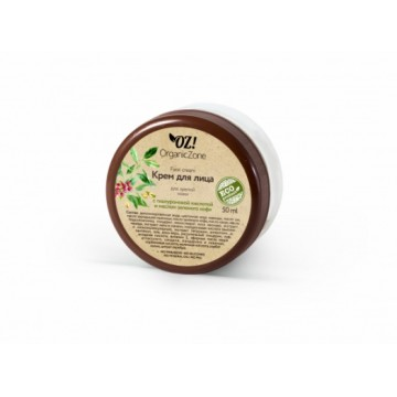 Крем для лица для зрелой кожи с гиалуроновой кислотой и маслом зеленого кофе, 50мл