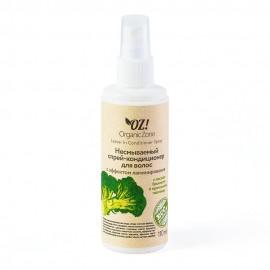 Несмываемый спрей-кондиционер для волос с эффектом ламинирования с маслом брокколи и протеинами пшеницы, 110 мл, , 17.30 руб., Несмываемый спрей-кондиционер для волос с эффектом ламинирования, OZ! OrganicZone — натуральная косметика, Несмываемые средства