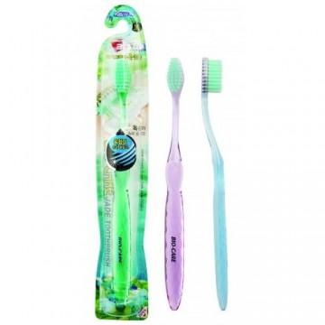 Зубная щетка BioСare с нефритом и межзубным ершиком средней жесткости DeoTech