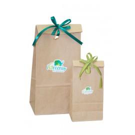 Эко-упаковка: бумажный пакет с разноцветоными лентами, , 0.00 руб., Эко-упаковка с ленточкой, , Подарочные наборы и Сертификат
