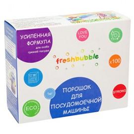 """Порошок для посудомоечной машины усиленный Freshbubble, 1 кг, , 24.40 руб., Порошок для посудомоечной машины усиленный Freshbubble, Freshbubble - экологические средства для дома, Бытовая """"НеХимия"""""""