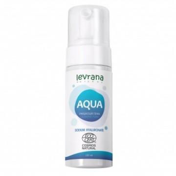 Очищающая пенка для умывания AQUA с гиалуроновой кислотой, 150мл Levrana
