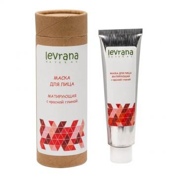 Маска для лица «Матирующая» с красной глиной Levrana, 50 мл