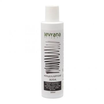 Чёрная мицеллярная вода для снятия макияжа (детокс) Levrana, 200 мл