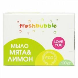 Универсальное Мыло Мята и Лимон Freshbubble, 100 г, , 4.20 руб., Мыло Мята и Лимон Freshbubble, 100 г, Freshbubble - экологические средства для дома, Для мытья посуды