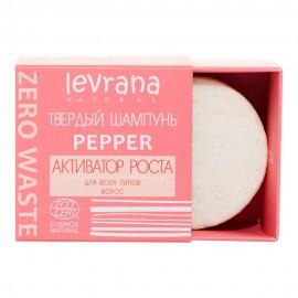 """Твердый шампунь """"Pepper"""", активатор роста Levrana, 50 г"""