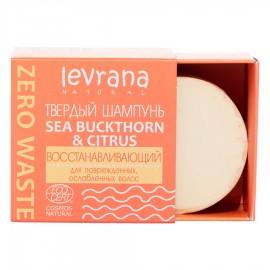"""Твердый шампунь """"Sea buckthorn & citrus"""", восстанавливающий Levrana, 50 г, , 12.10 руб., Твердый шампунь """"Sea buckthorn & citrus"""", 50 г, Levrana, Уход для волос от Levrana"""