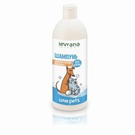 Шампунь для собак и кошек всех пород без аромата Levrana, 500 мл