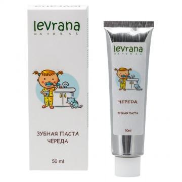 Детская зубная паста гелевая «Череда» с естественным вкусом Levrana, 75 мл