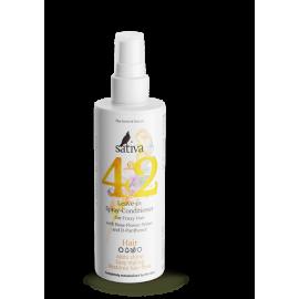 Спрей - кондиционер №42 для непослушных волос, 150 мл, , 21.00 руб., Спрей - кондиционер №42 для непослушных волос, SATIVA - Функциональная дерматологическая косметика, Несмываемые средства