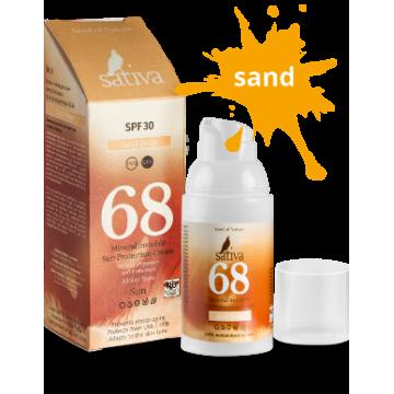 Крем «невидимый» минеральный солнцезащитный №68 Sand Beige, 30 мл