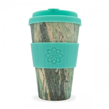 Кофейная эко-чашка: Зеленый мрамор, 400мл, Ecoffee cup
