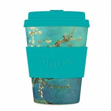 Кофейная эко-чашка: Цветущий миндаль, 350мл, Ecoffee cup