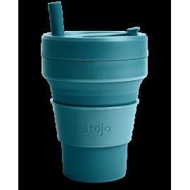 Складной силиконовый стакан Stojo, Лагуна, 470мл