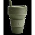 Складной силиконовый стакан Stojo, Мох, 470 мл
