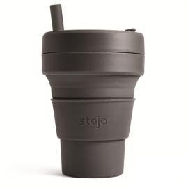 Складной силиконовый стакан Stojo, Уголь, 470мл, , 47.00 руб., Складной силиконовый стакан Stojo, Уголь, 470мл, Stojo - складные силиконовые стаканы, Zero waste = Ноль Отходов
