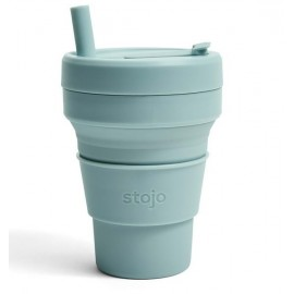 Складной силиконовый стакан Stojo, Аквамарин, 470мл