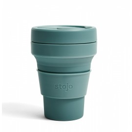 Складной силиконовый стакан Stojo, Эвкалипт, 355мл