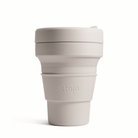 Складной силиконовый стакан Stojo,  Кашемир, 355мл, , 40.00 руб., Складной силиконовый стакан Stojo, Коралл, 355мл, Stojo - складные силиконовые стаканы, Zero waste = Ноль Отходов