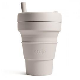Складной силиконовый стакан с трубочкой Stojo, Кашемир, 470мл