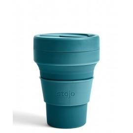 Складной силиконовый стакан Stojo, Лагуна, 355мл