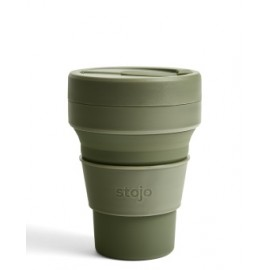 Складной силиконовый стакан Stojo, Мох, 355мл