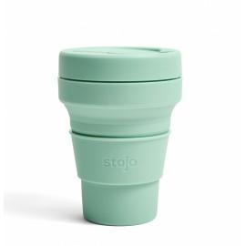 Складной силиконовый стакан Stojo, Морская пена, 355мл, , 40.00 руб., Складной силиконовый стакан Stojo, Морская пена, 355мл, Stojo - складные силиконовые стаканы, Zero waste = Ноль Отходов