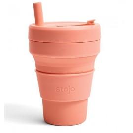 Складной силиконовый стакан Stojo, Абрикос, 470мл
