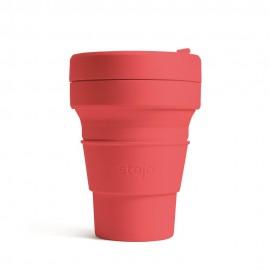 Складной силиконовый стакан Stojo, Коралл, 355мл, , 40.00 руб., Складной силиконовый стакан Stojo, Коралл, 355мл, Stojo - складные силиконовые стаканы, Zero waste = Ноль Отходов
