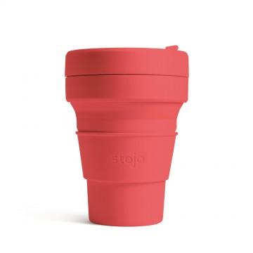 Складной силиконовый стакан Stojo, Коралл, 355мл